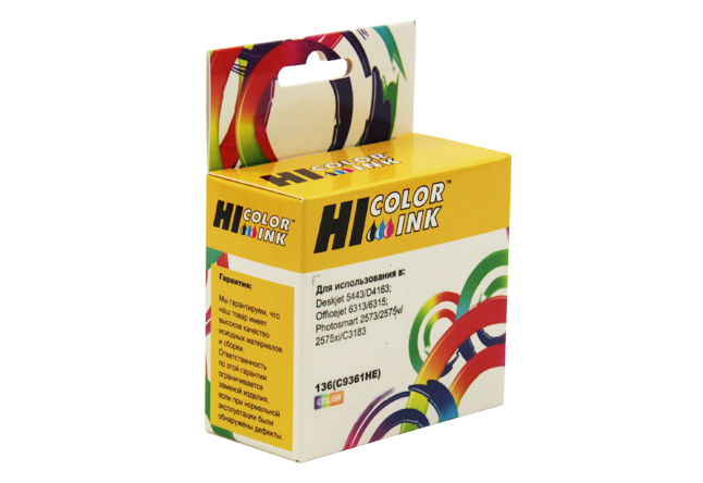 Картридж Hi-Black (HB-C9361HE) для HP DJ 5443/4163, №136, Color