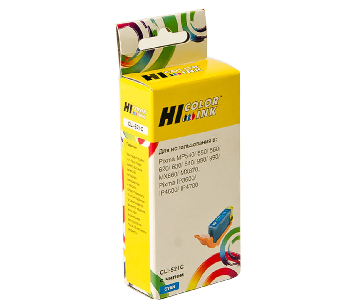 Картридж Hi-Black (HB-CLI-521C) для Canon PIXMA iP3600/iP4600/MP540, C